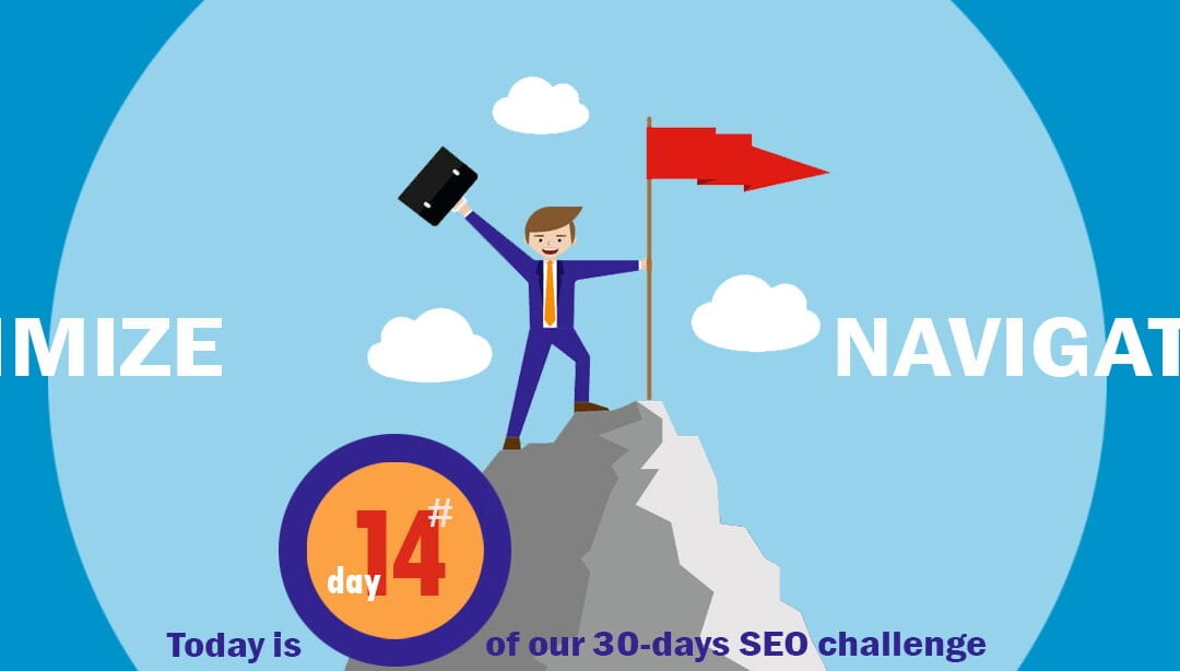 SEO Challenge Day 14 – Optimizing The Navigation